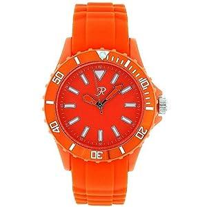 Montre Sport Unisexe - Femmes Analogique Bracelet En Silicone Orange Par Reflex SR004