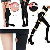 Stylekim Slimming Compression tights Opaque black Footed Pantyhose stockings