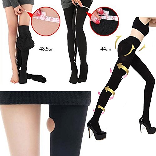 Stylekim Slimming Compression tights Opaque black Footed Pantyhose stockings (Fashion Support Hose compare prices)