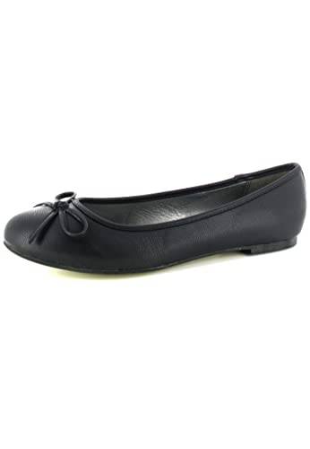 ANDRES mACHADO ballerines femme-noir-chaussures en matelas grande taille