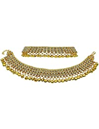 Penny Jewels Antique Gold Plated Fashionable Unique Anklet Set For Women & Girls (Adjustable)