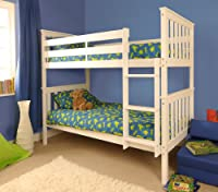 Premium Pine Bunk Bed with a White Finish with Mattresses INCLUDED