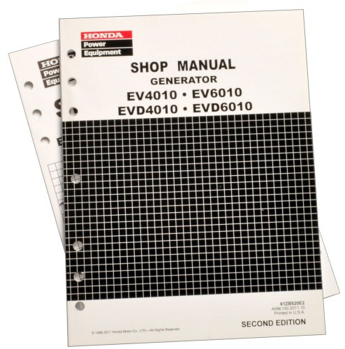 Honda Ev4010 Ev6010 Evd4010 Generator Service Repair Shop Manual