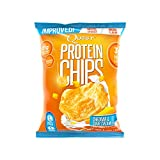 Quest Nutrition Protein Chips, Cheddar & Sour Cream, 21g Protein, 2g Net Carbs, 132 Cals, Low Carb, Gluten Free, Soy Free, Potato Free, Baked, 1.2oz Bag, 8 Count