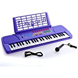 D'Luca Children 49 Keys Electronic Piano Music Keyboard Purple