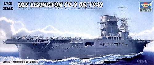 Trumpeter 1/700 USS Lexington CV2 Aircraft Carrier May 1942 Model Kit