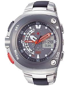 Citizen JV0051-60E - Reloj analógico de cuarzo para hombre con correa de caucho, color multicolor