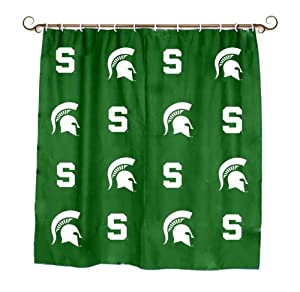 NCAA Printed Shower Curtain NCAA Team: Michigan State
