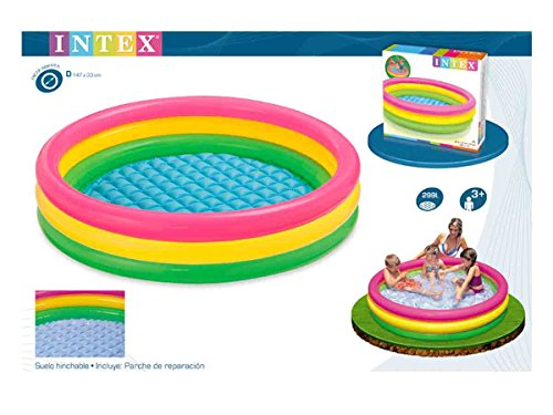 Intex Kiddie Pool – Kid's Summer Sunset Glow Design – 58″ x 13″