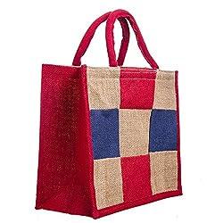 Check colorfull design, jute bag