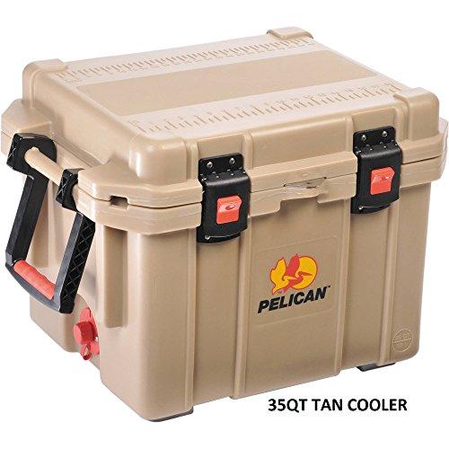 Pelican ProGear Elite Deluxe 35QT Cooler Ice Chest - Tan