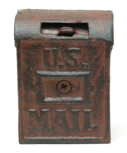 Cast Iron Mail Box Bank (Cast Iron Vintage Banks compare prices)