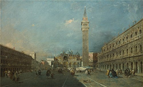 'Francesco Guardi Venice Piazza San Marco ' Oil Painting, 8 X 13 Inch / 20 X 33 Cm ,printed On Perfect Effect Canvas ,this High Definition Art Decorative Prints On Canvas Is Perfectly Suitalbe For Gym Decoration And Home Decor And Gifts