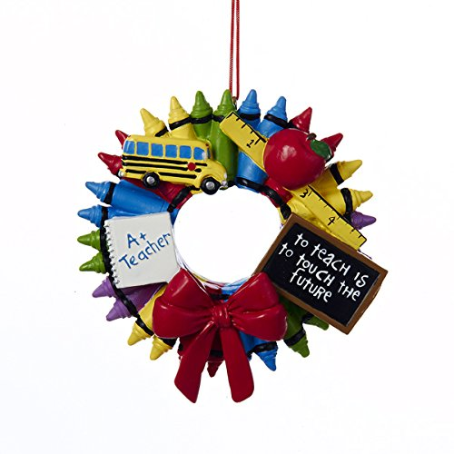 Kurt Adler Crayon Wreath Ornament #J1457