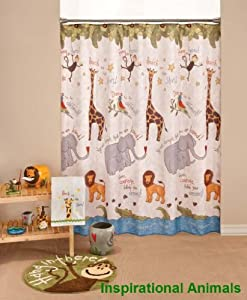 Inspirational Animals Fabric Shower Curtain