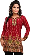Womens Indian Kurti Top Tunic Printe…