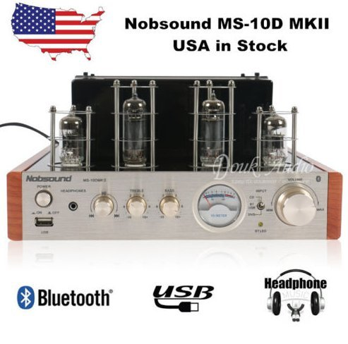Nobsound® MS-10D MKII Tube Amplifier with Bluetooth/USB/Headphone for Hifi