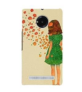 EPICCASE Windy Girl Mobile Back Case Cover For YU Yuphoria (Designer Case)