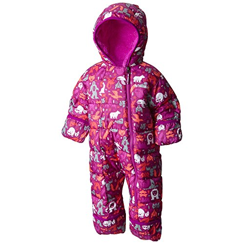 Columbia Baby Girls' Frosty Freeze Bunting, Bright Plum Critters, 18-24 Months
