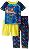 Komar Boys 2-7 Planes Disney 3 Piece Pant and Short Sleeve Pajama Set