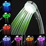 Swarish Automatic 7 Color Changing Led Light Water Bathroom Head Shower