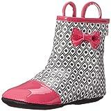 Robeez Happy Hopper Rainboot Hard Sole Mini Shoe (Infant), Hot Pink, 12-18 Months M US