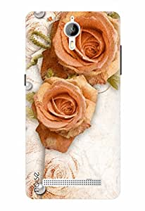 Noise Designer Printed Case / Cover for Panasonic P77 4G / Nature / Pearl With Rose Design