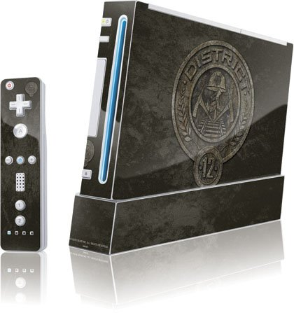 Skinit The Hunger Games -District 12 Stone Logo Vinyl Skin for Wii (Includes 1 Controller) Skin