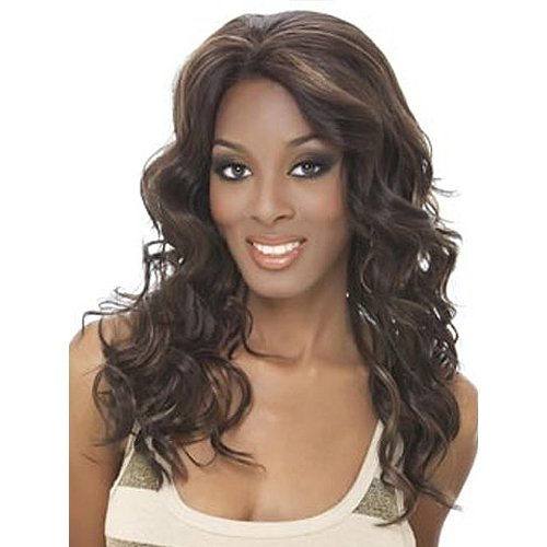 Beverly Johnson Lace Front Wig - Cruz - Color#1B/30- Off Black/Medium Brown Red front-229093
