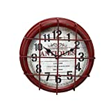 Visa Home - Orologio da Parete, 24 x 8 cm, di Metallo, di Design Antiquariato