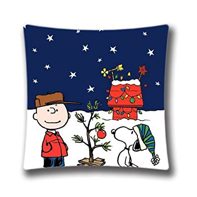 Christmas Decorative Pillow Cover-A Charlie Brown Christmas Pillow Cover 18x18(one side) Cotton Linen Throw Pillow Case for Christmas Decaration