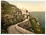 Photographic Print of Victorian Photochrom The lighthouse, Llandudno, Wales