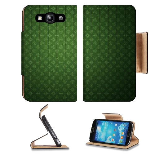 Pattern Green Tiled Graphic Symmetrical Stripe Samsung Galaxy S3 I9300 Flip Cover Case With Card Holder Customized Made To Order Support Ready Premium Deluxe Pu Leather 5 Inch (132Mm) X 2 11/16 Inch (68Mm) X 9/16 Inch (14Mm) Liil S Iii S 3 Professional Ca