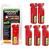 Knockout Pepper Spray With Built-In LED Light And Glow-In-Dark-Trigger (Red,35 Grams)