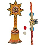 Combo Of Bell Designed Key Holder & Designer Rakhi