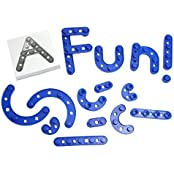 Build A Letters And Numbers Alphabet Construction Set With Snap Together Blocks Kit Uppercase And Lowercase Letters...