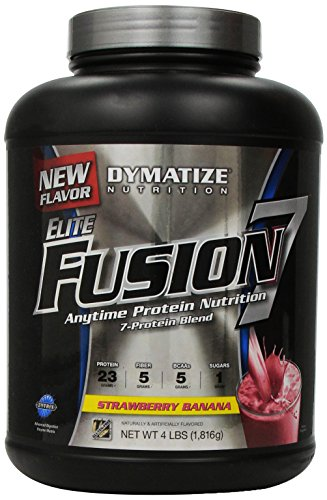 Dymatize New Improved Taste Elite Fusion 7 Supplement, Strawberry Banana, 64 Ounce