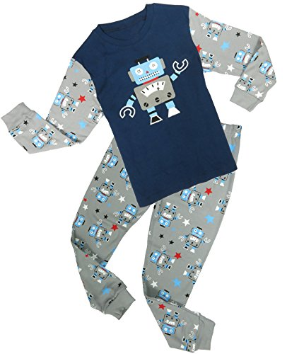 Family Feeling Robot Little Boys' 2 Piece Long Sleeve Pjs Set T-Shirt Pants 5 Years (Robot 5t compare prices)