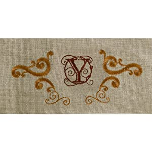 Grasslands Road Cucina Monogram Letter Initial Y Embroidered Scrollwork Tea Towels, Set of 2 at Sears.com