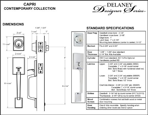 Delaney Capri Design Contemporary Polished Chrome