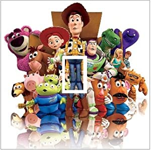 TOY STORY BUZZ LIGHTYEAR WOODY VINYL WALL LIGHT SWITCH STICKER / COVER: Amazon.co.uk: Kitchen & Home