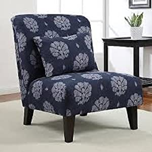 chic indigo wash accent chair