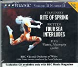Stravinsky Rite of Spring, Britten Four Sea Interludes