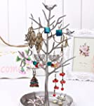 HQdeal New Antique Silver Birds Tree...