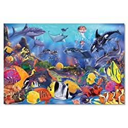 [Best price] Puzzles - Melissa & Doug Underwater 48-Piece Floor Puzzle - toys-games