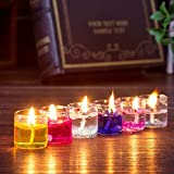 #8: PeepalComm 18pcs/pack Gel Candles for Home Decoration Party Birthday Wedding Diwali Christmas (2.3 x 2.3 x 2.6cm)