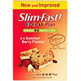 SlimFast Summer Berry Meal Bar 60 g - Pack of 4