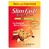 Slim Fast Meal Bar Summer Berry 60g - Pack of 4