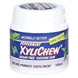 Naturally Better Peppermint, Sugar Free Chewing Gum, 100 Piece Canister ~ Xylichew