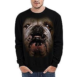Wellcoda | Bulldog British Pet Mens English Dog Black Sweatshirt S-7XL